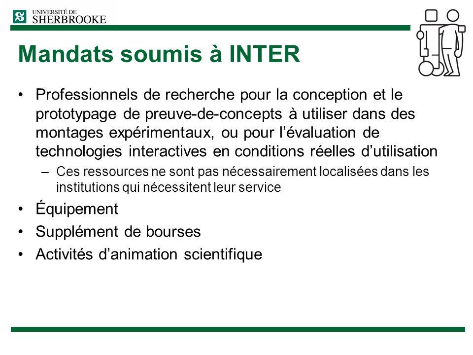 Mandats soumis à INTER