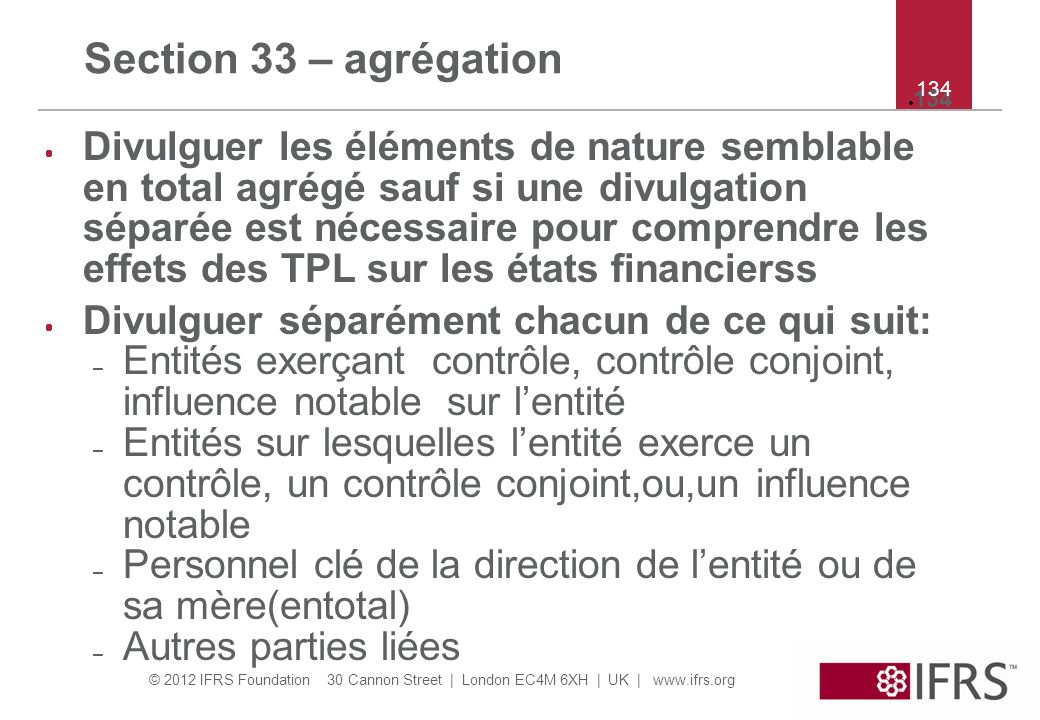 Section 33 – agrégation 134. 134.