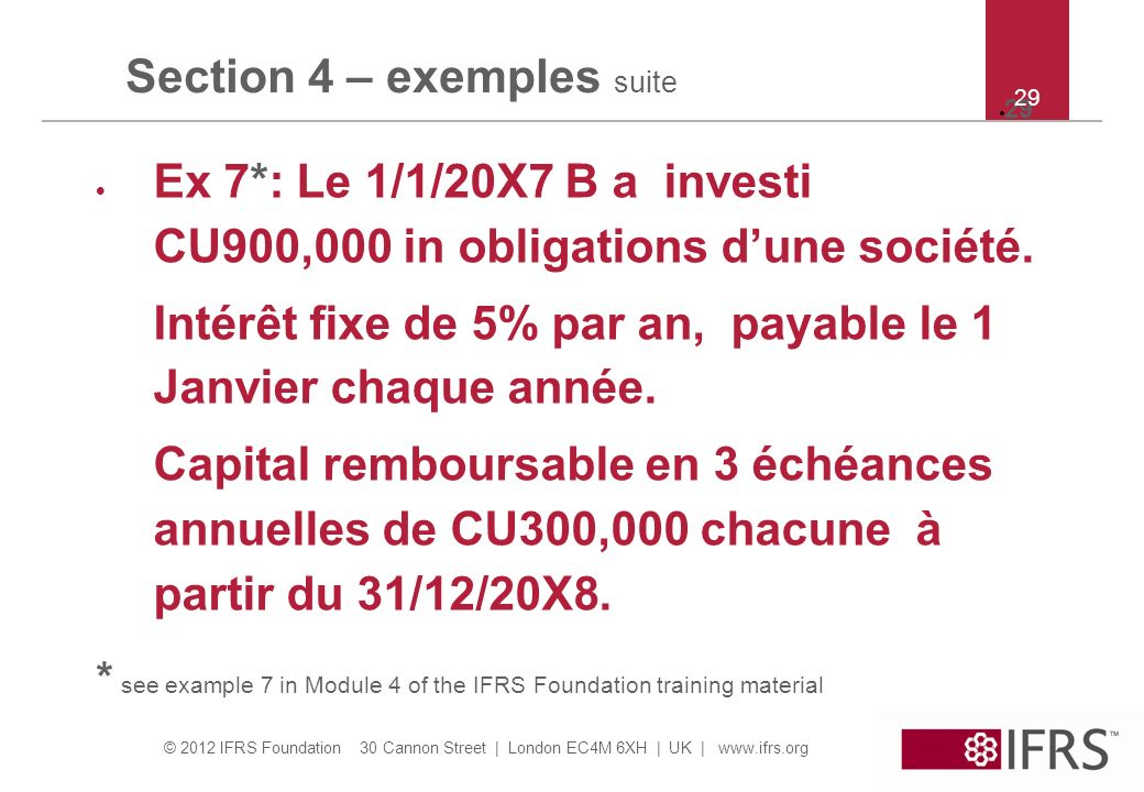 Section 4 – exemples suite