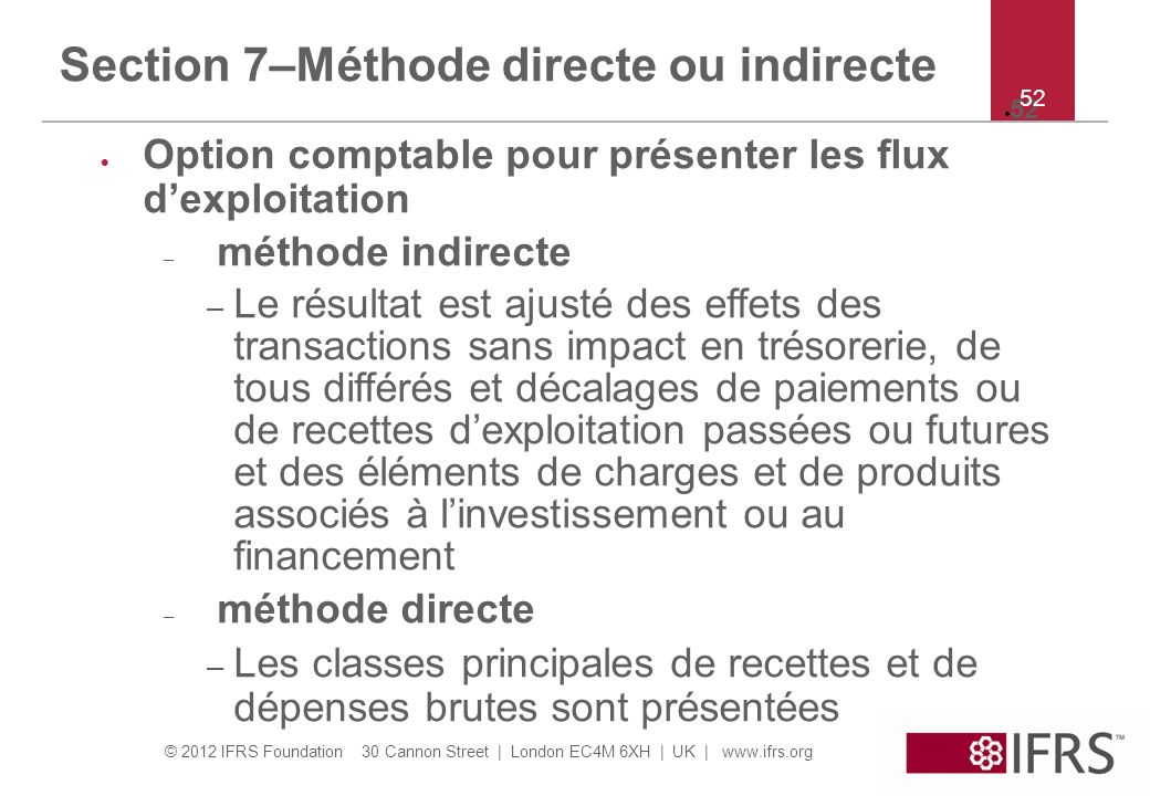 Section 7–Méthode directe ou indirecte