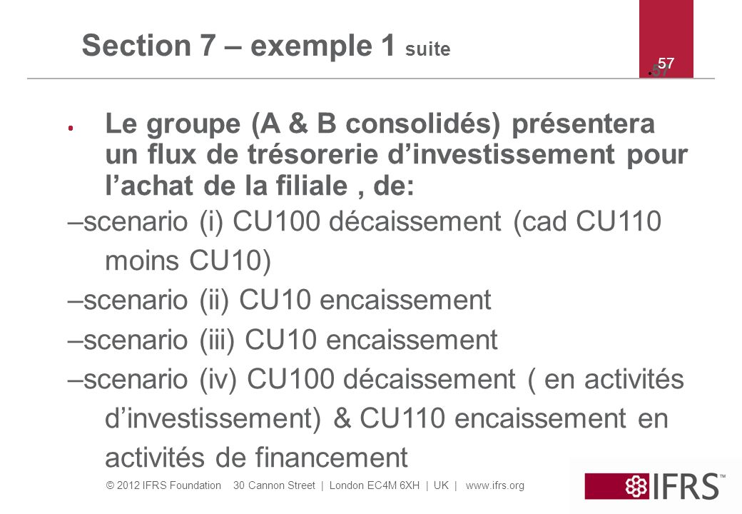 Section 7 – exemple 1 suite