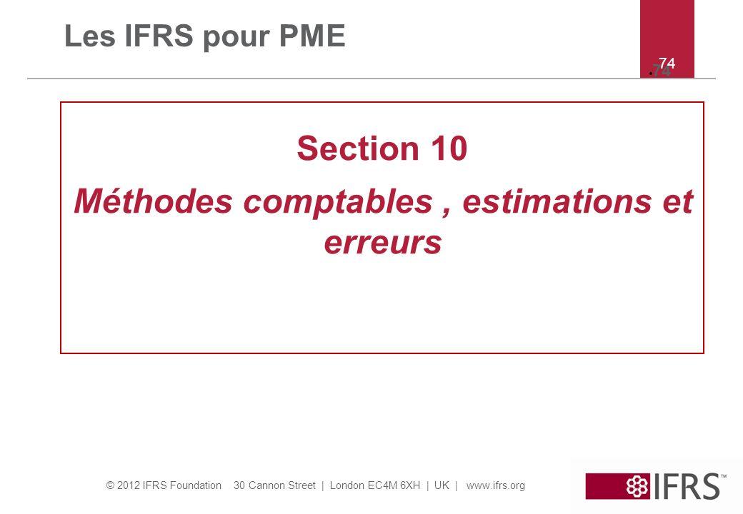 Méthodes comptables , estimations et erreurs