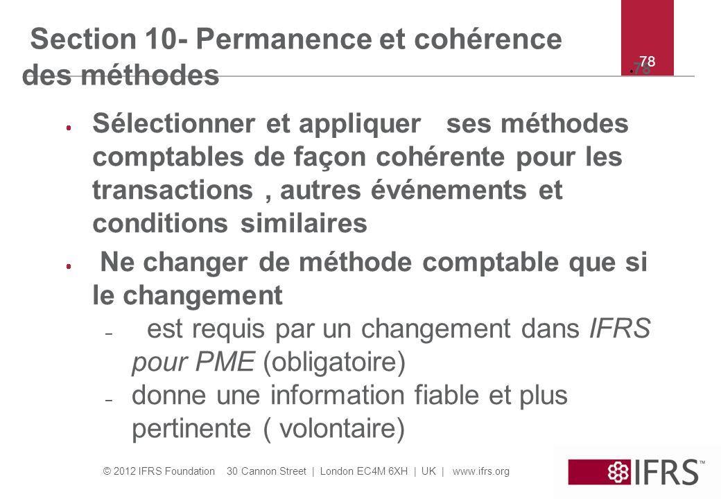 Section 10- Permanence et cohérence des méthodes