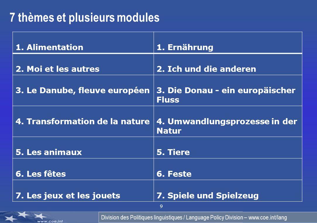 7 thèmes et plusieurs modules