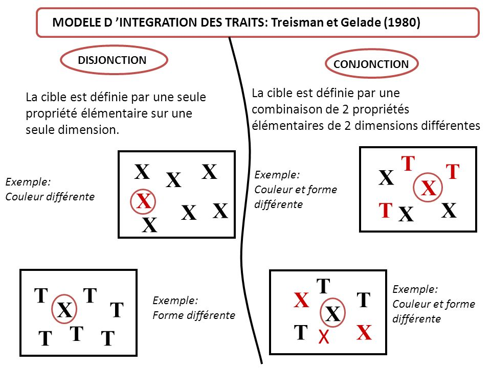 MODELE D 'INTEGRATION DES TRAITS: Treisman et Gelade (1980)