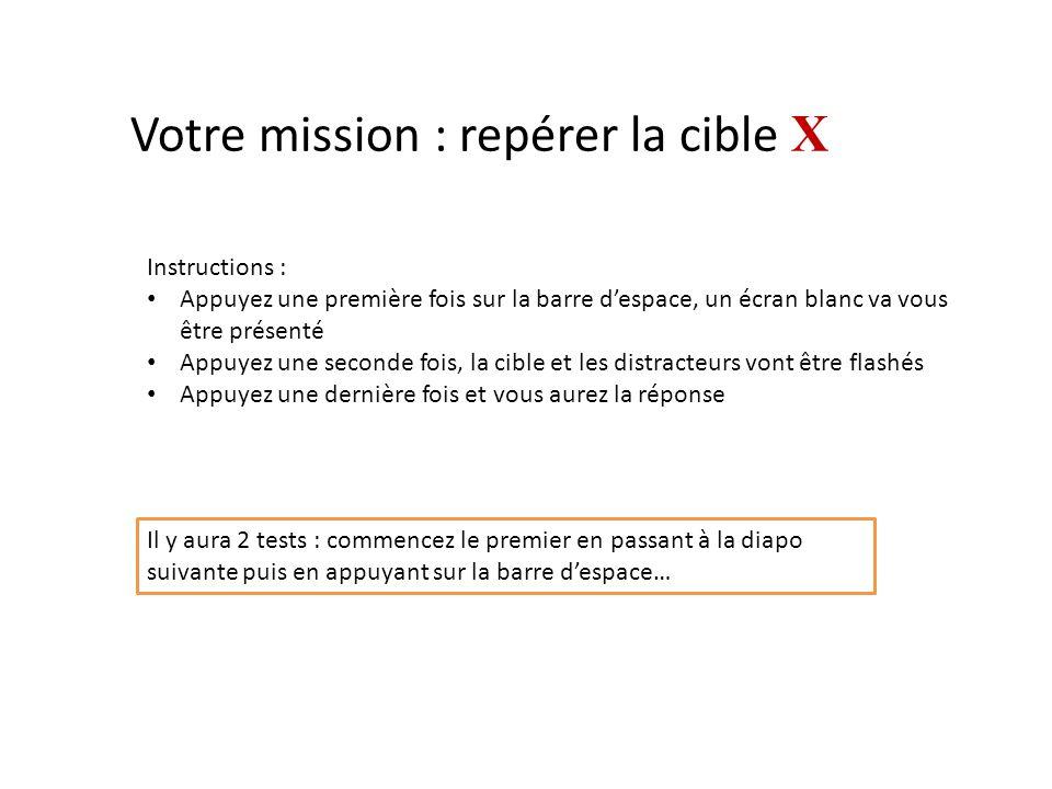 Votre mission : repérer la cible X