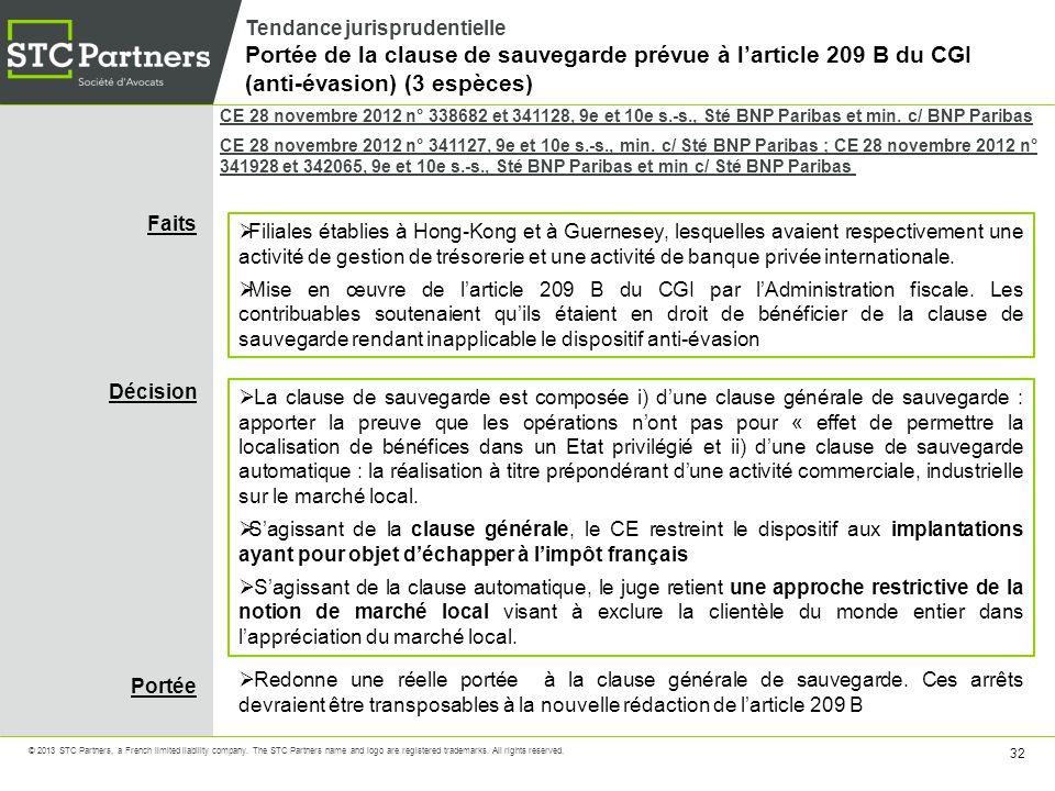 Tendance jurisprudentielle Portée de la clause de sauvegarde prévue à l'article 209 B du CGI (anti-évasion) (3 espèces)