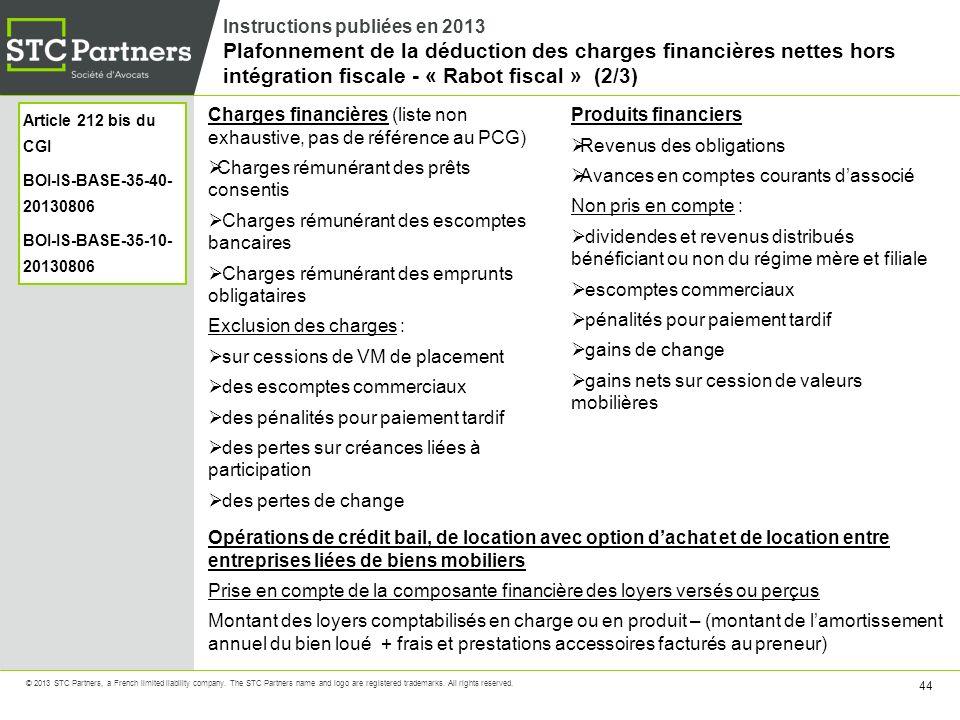 Charges financières (liste non exhaustive, pas de référence au PCG)