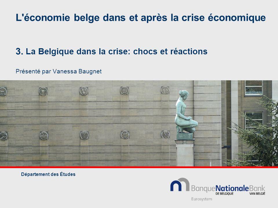 L économie belge dans et après la crise économique 3