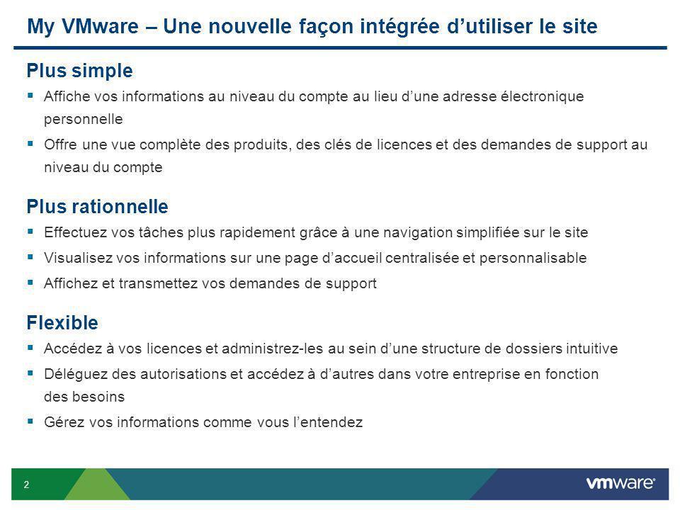 My VMware – Une nouvelle façon intégrée d'utiliser le site