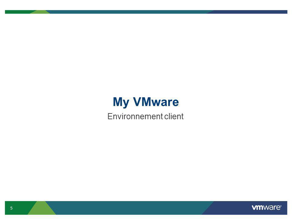 My VMware Environnement client