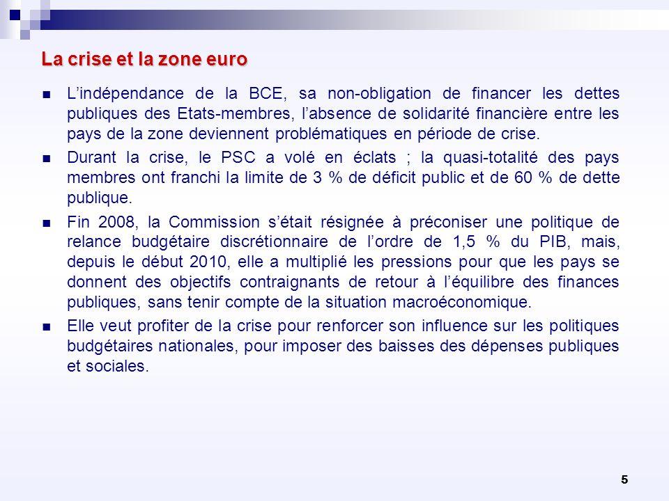 La crise et la zone euro