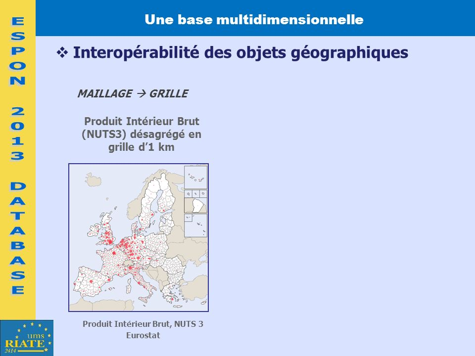 Une base multidimensionnelle Produit Intérieur Brut, NUTS 3
