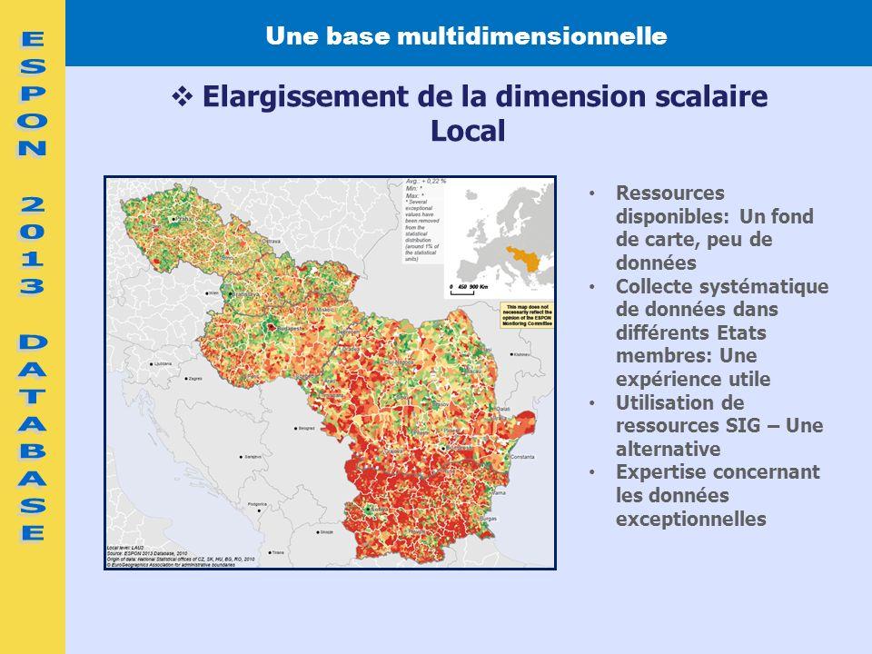 Une base multidimensionnelle Elargissement de la dimension scalaire