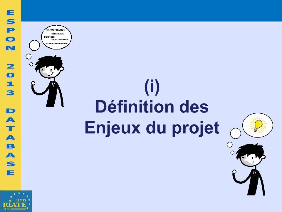 (i) Définition des Enjeux du projet
