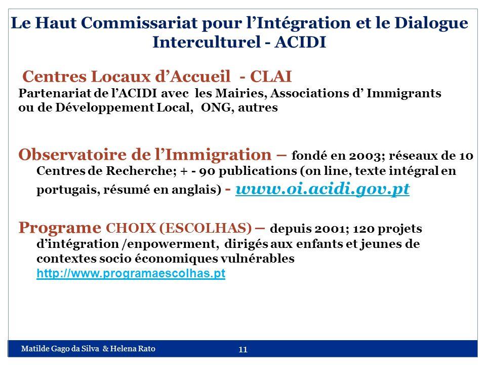 Centres Locaux d'Accueil - CLAI