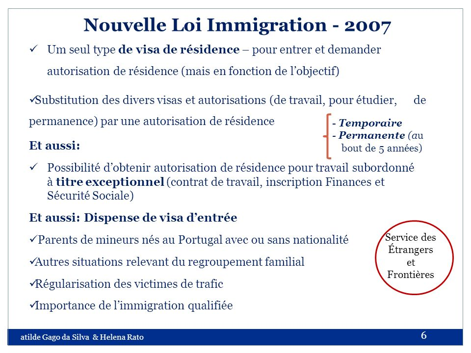 Nouvelle Loi Immigration - 2007