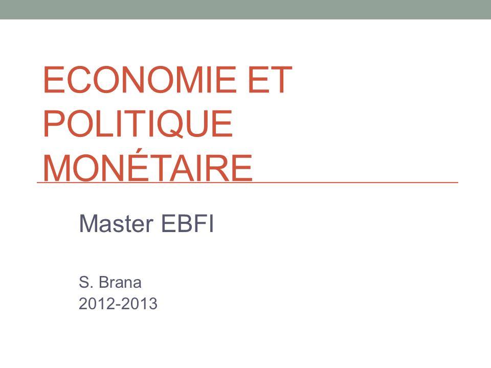 Economie et politique monétaire
