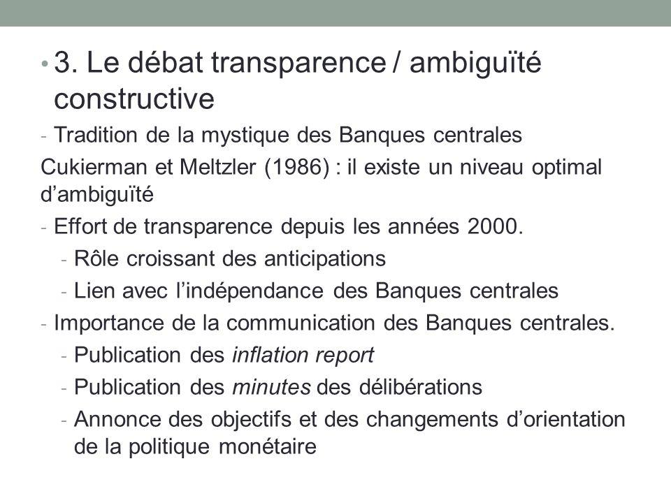 3. Le débat transparence / ambiguïté constructive