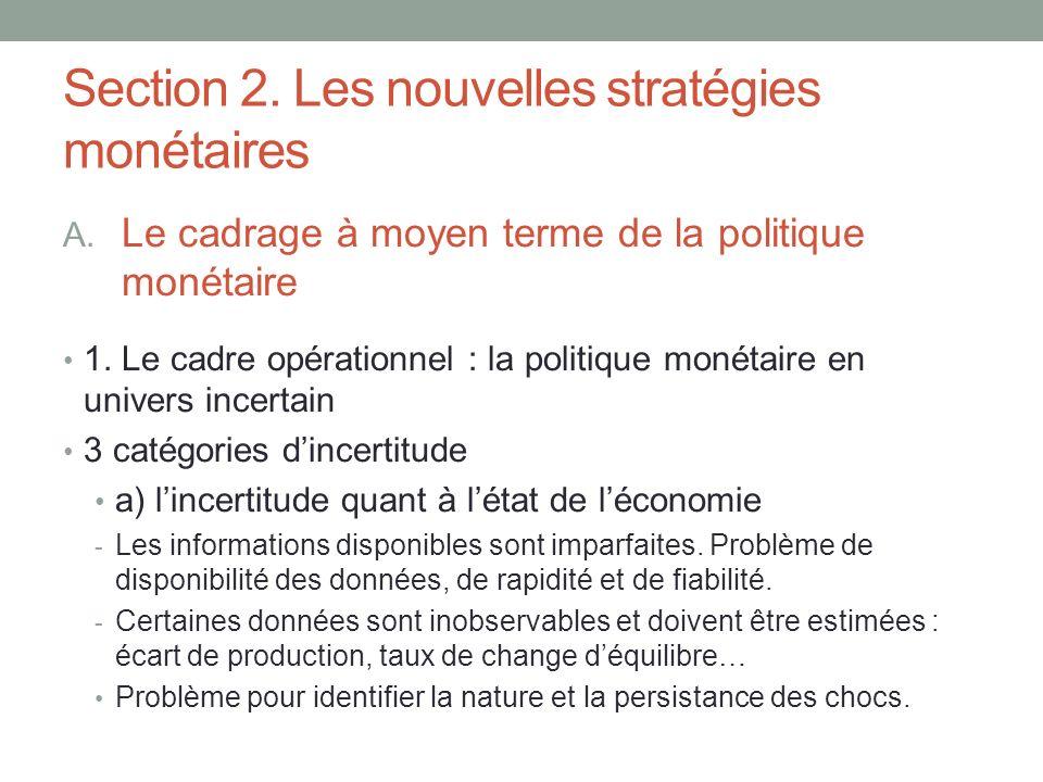 Section 2. Les nouvelles stratégies monétaires