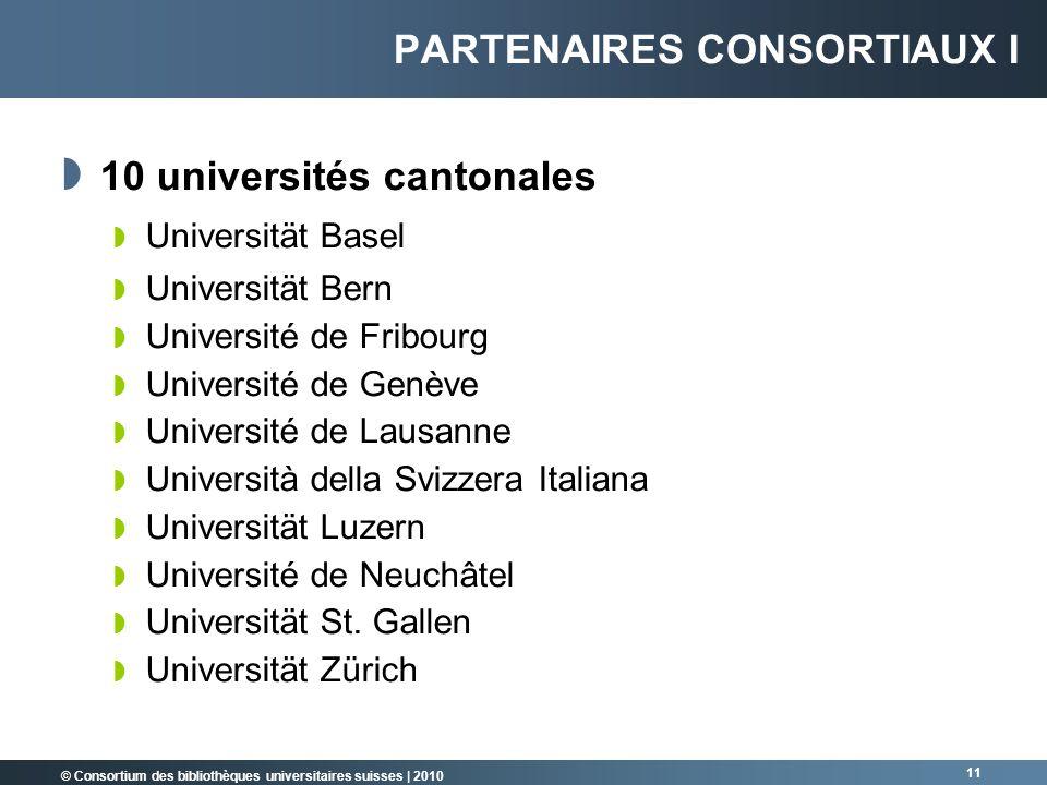 Partenaires consortiaux I