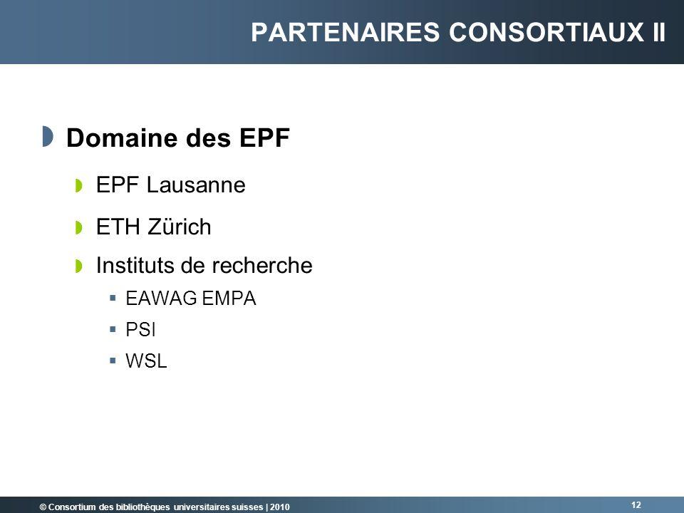 Partenaires consortiaux II