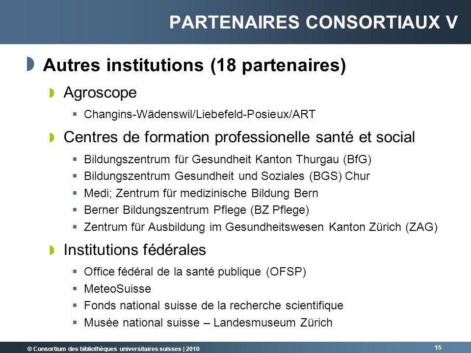 Partenaires consortiaux V