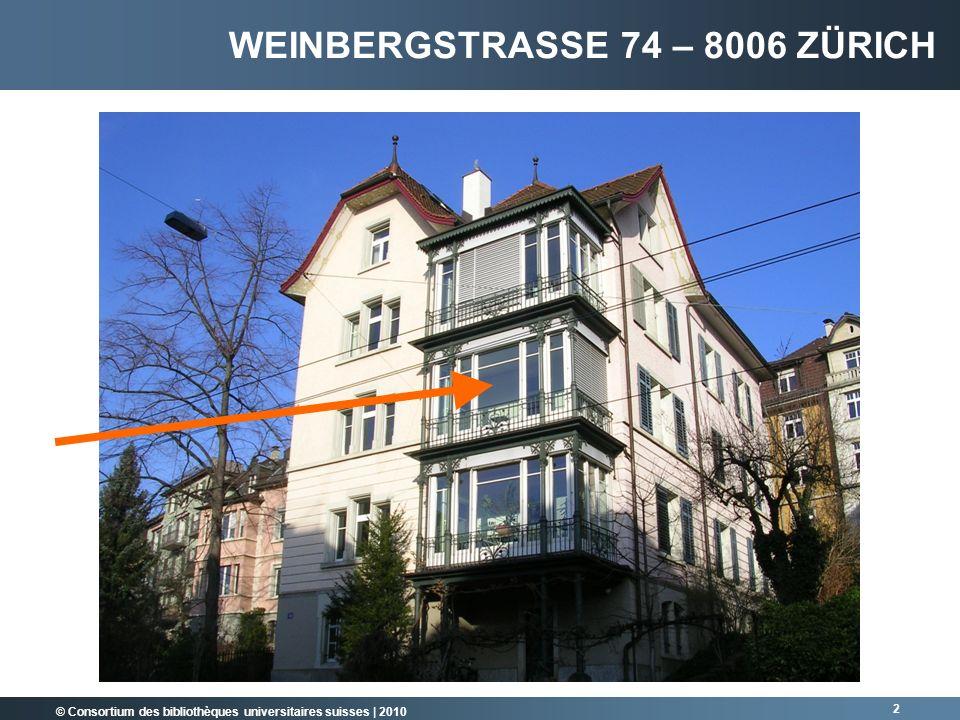 Weinbergstrasse 74 – 8006 Zürich