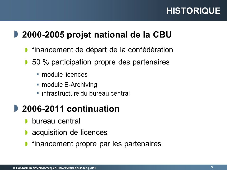 2000-2005 projet national de la CBU