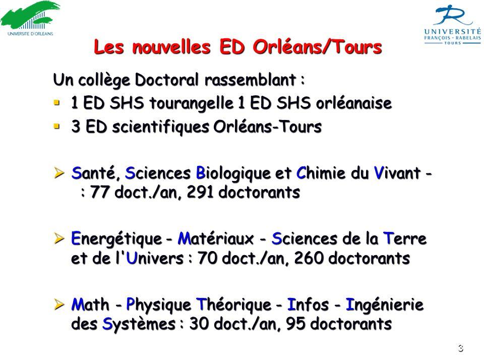 Les nouvelles ED Orléans/Tours