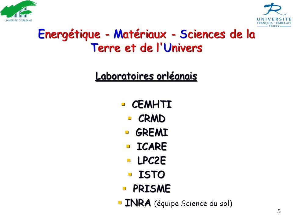 Energétique - Matériaux - Sciences de la Terre et de l Univers