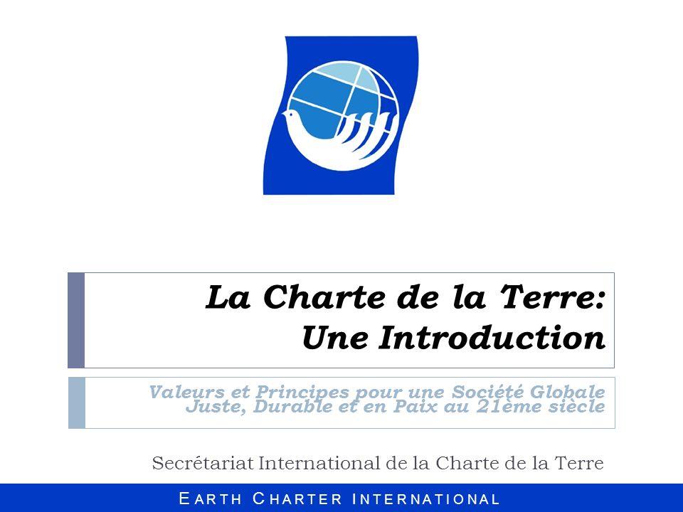 La Charte de la Terre: Une Introduction