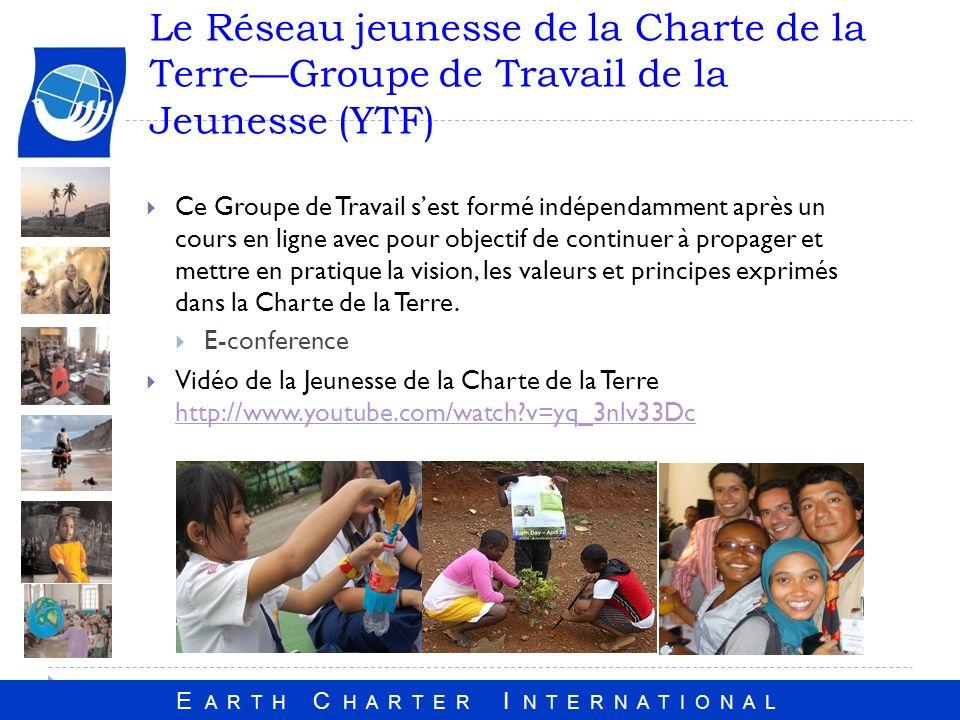 Le Réseau jeunesse de la Charte de la Terre—Groupe de Travail de la Jeunesse (YTF)