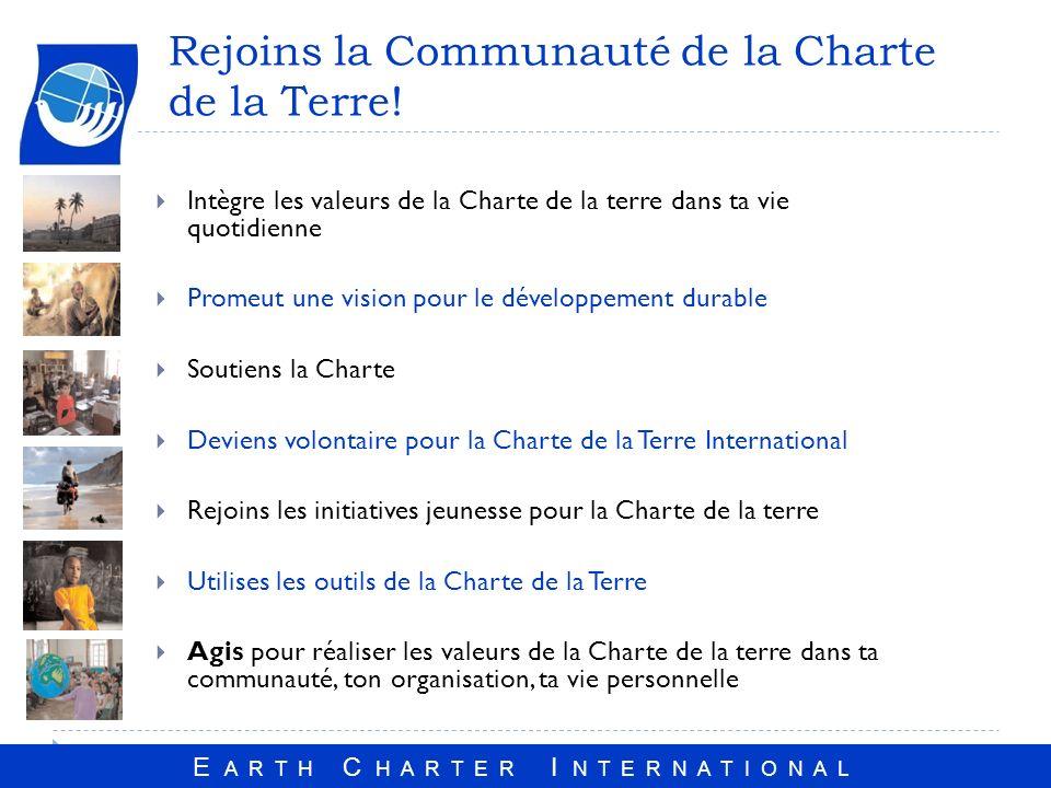 Rejoins la Communauté de la Charte de la Terre!