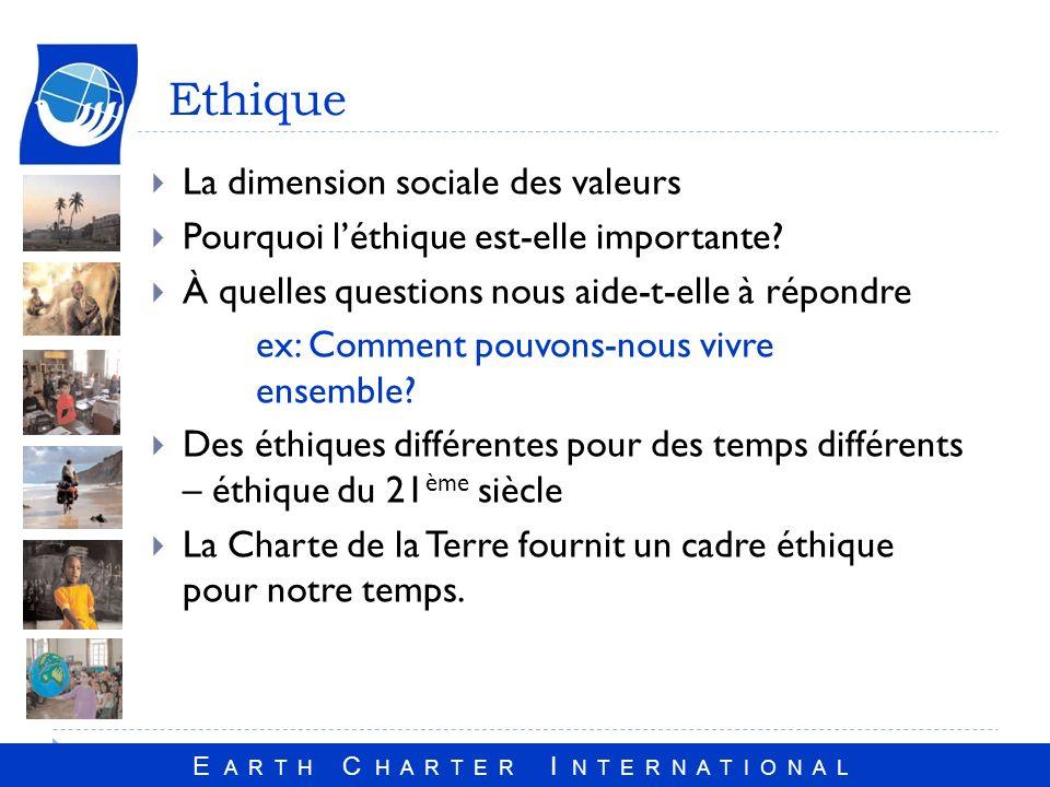 Ethique La dimension sociale des valeurs