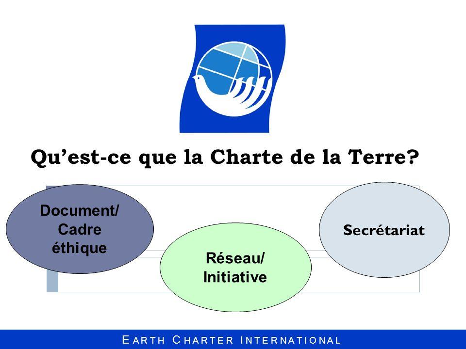Qu'est-ce que la Charte de la Terre