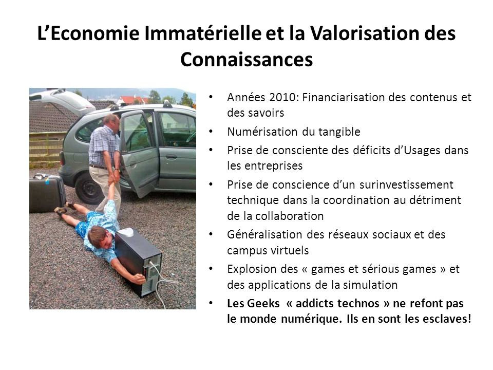L'Economie Immatérielle et la Valorisation des Connaissances