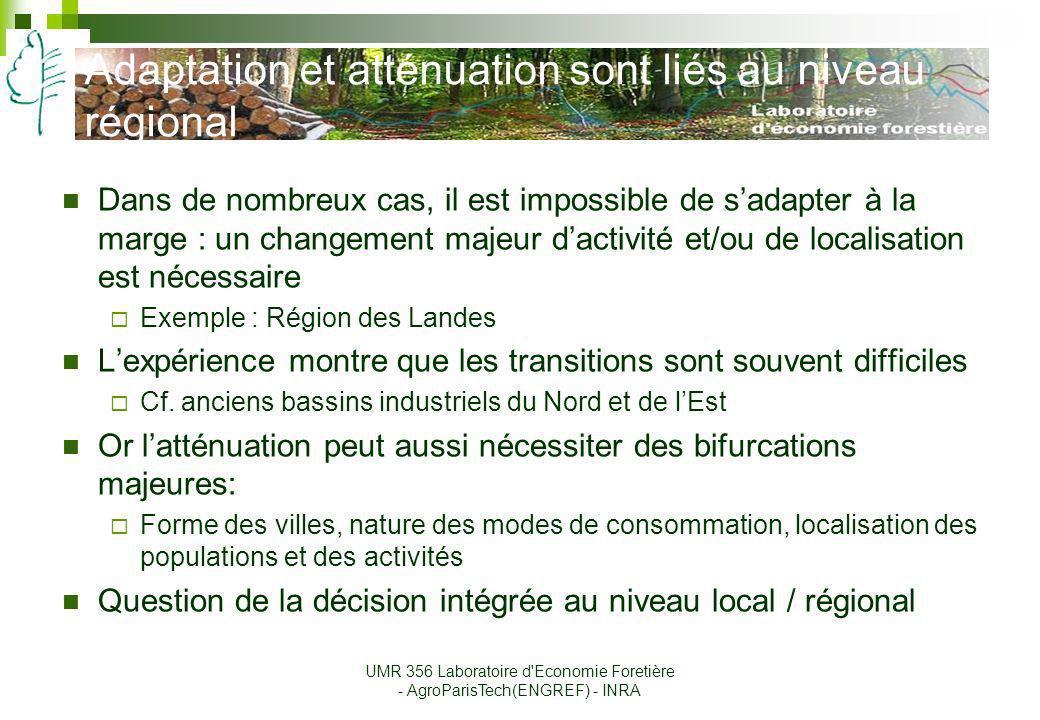 Adaptation et atténuation sont liés au niveau régional