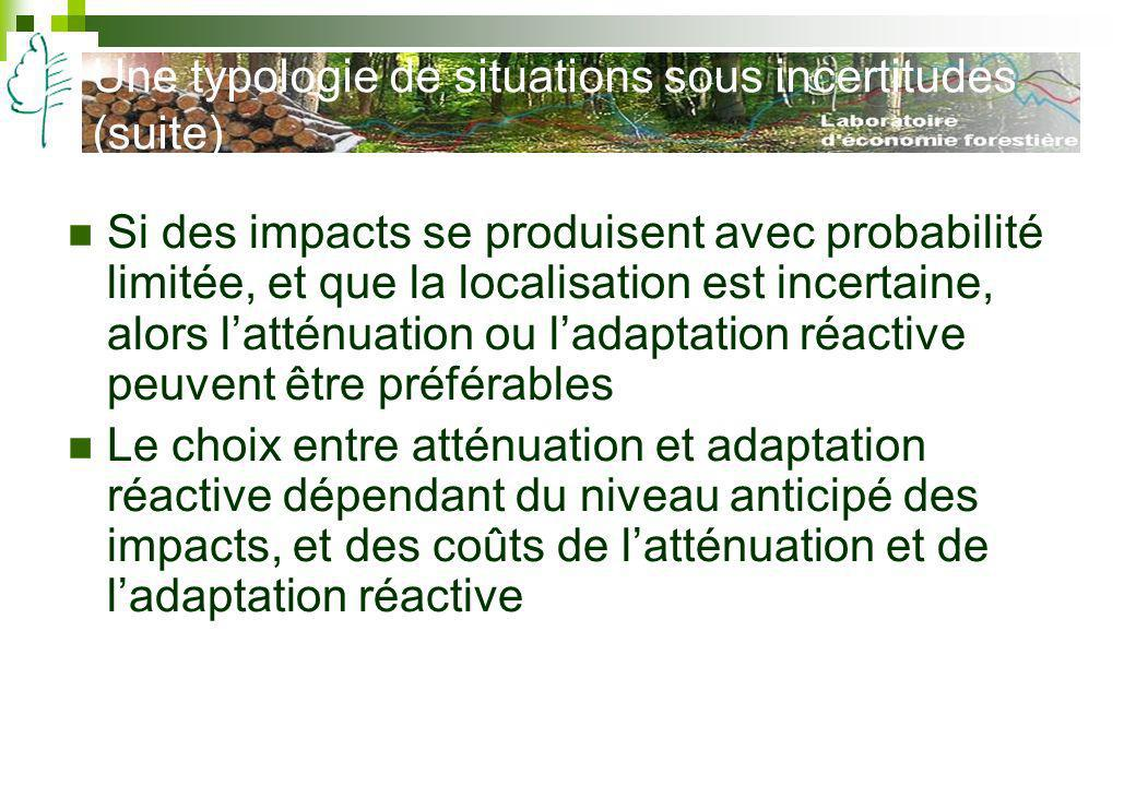 Une typologie de situations sous incertitudes (suite)