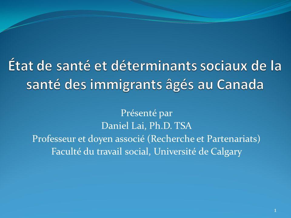 État de santé et déterminants sociaux de la santé des immigrants âgés au Canada