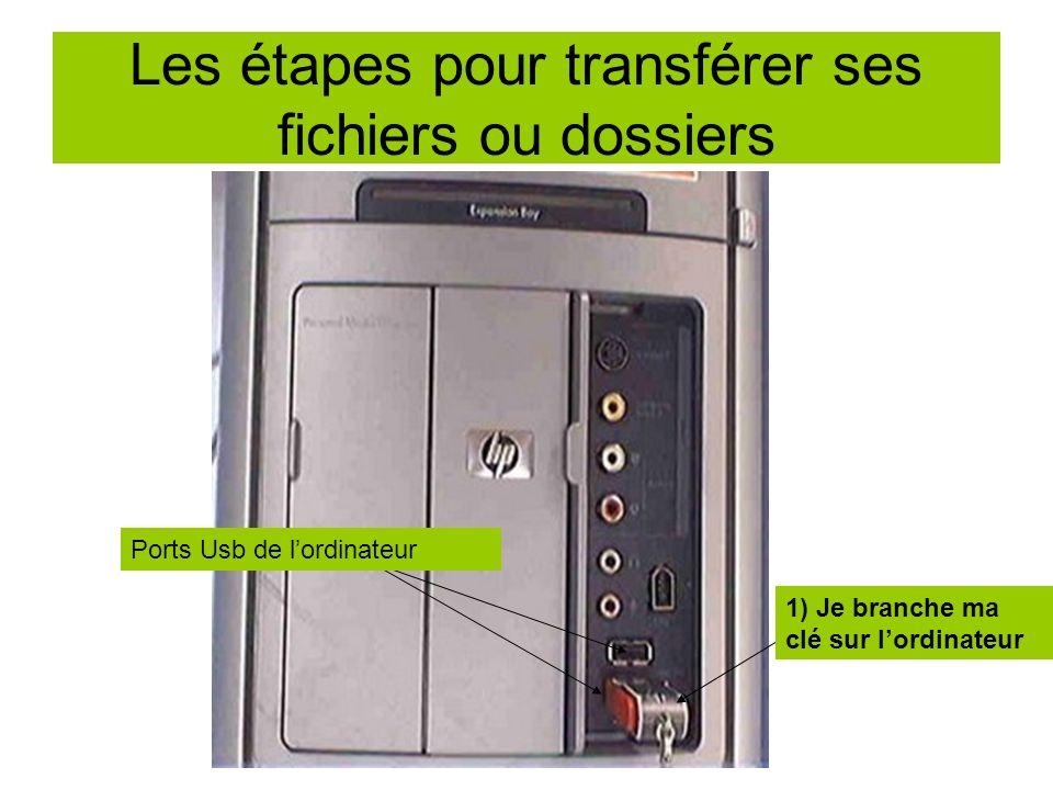Les étapes pour transférer ses fichiers ou dossiers