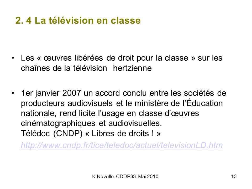 2. 4 La télévision en classe