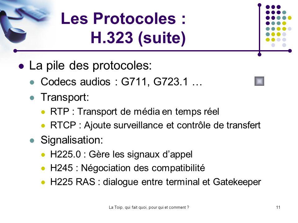 Les Protocoles : H.323 (suite)