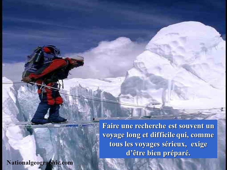Faire une recherche est souvent un voyage long et difficile qui, comme tous les voyages sérieux, exige d'être bien préparé.