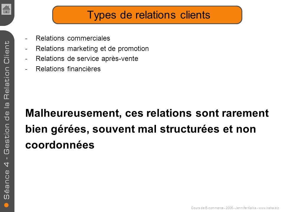 Types de relations clients