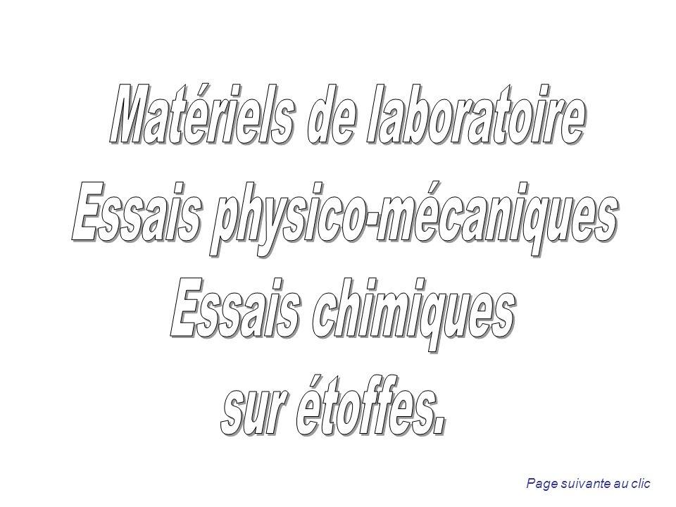 Matériels de laboratoire Essais physico-mécaniques Essais chimiques