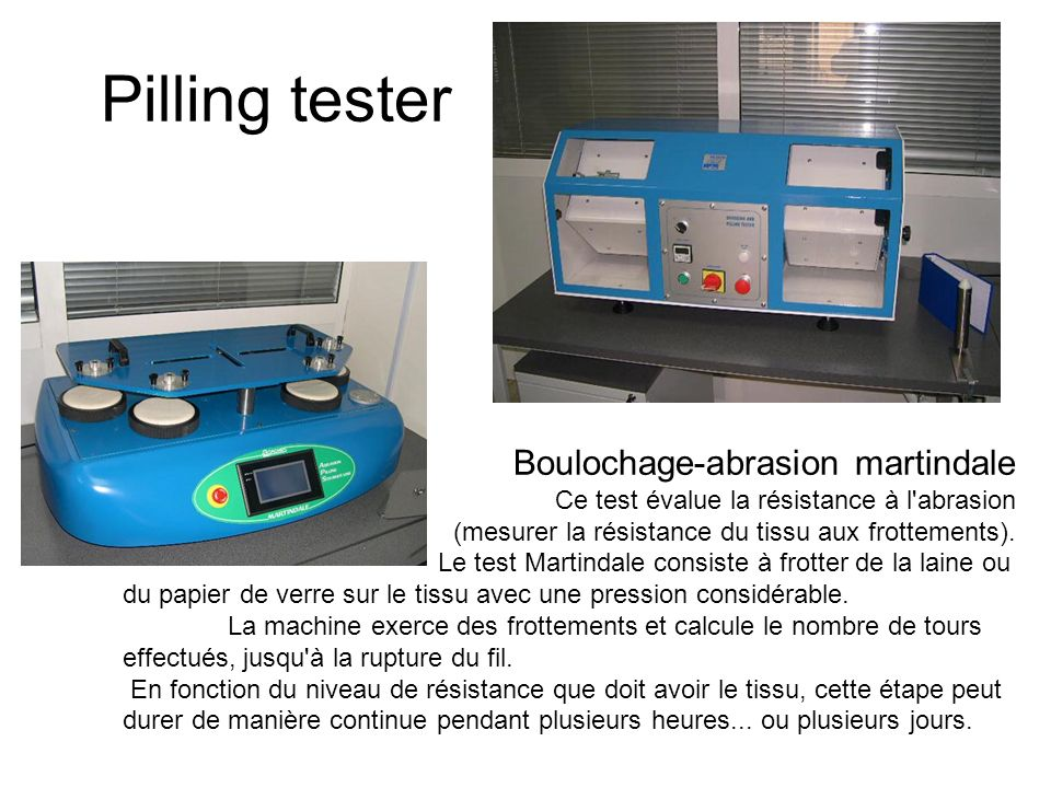 Pilling tester Boulochage-abrasion martindale