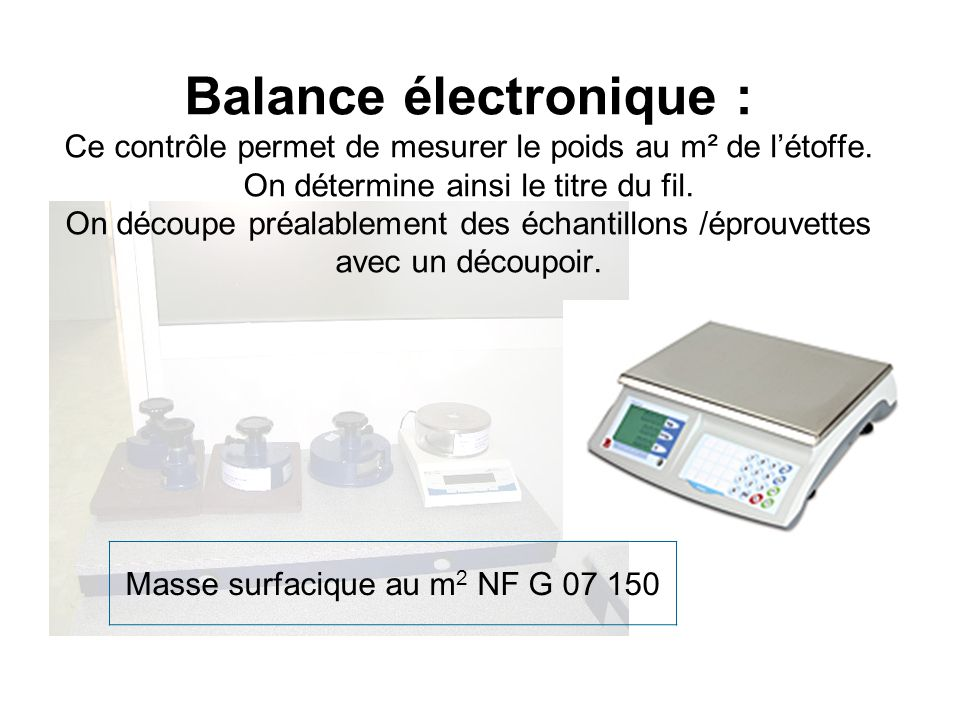 Masse surfacique au m2 NF G