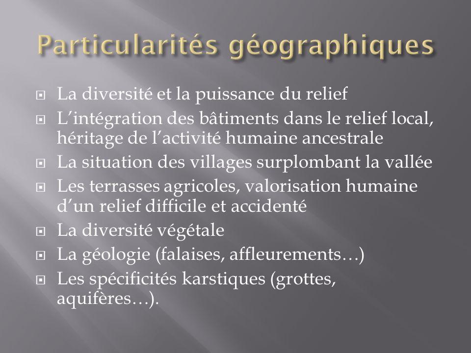 Particularités géographiques