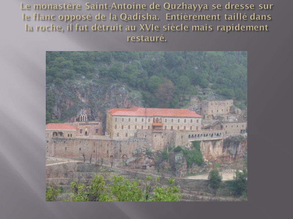Le monastère Saint-Antoine de Quzhayya se dresse sur le flanc opposé de la Qadisha.